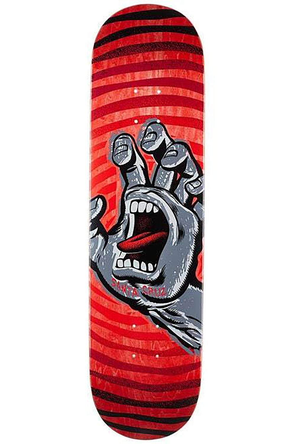 "Santa Cruz Skate Board OFF HAND HARD ROCK MAPLE 8.125"" x 31.7"" Red"