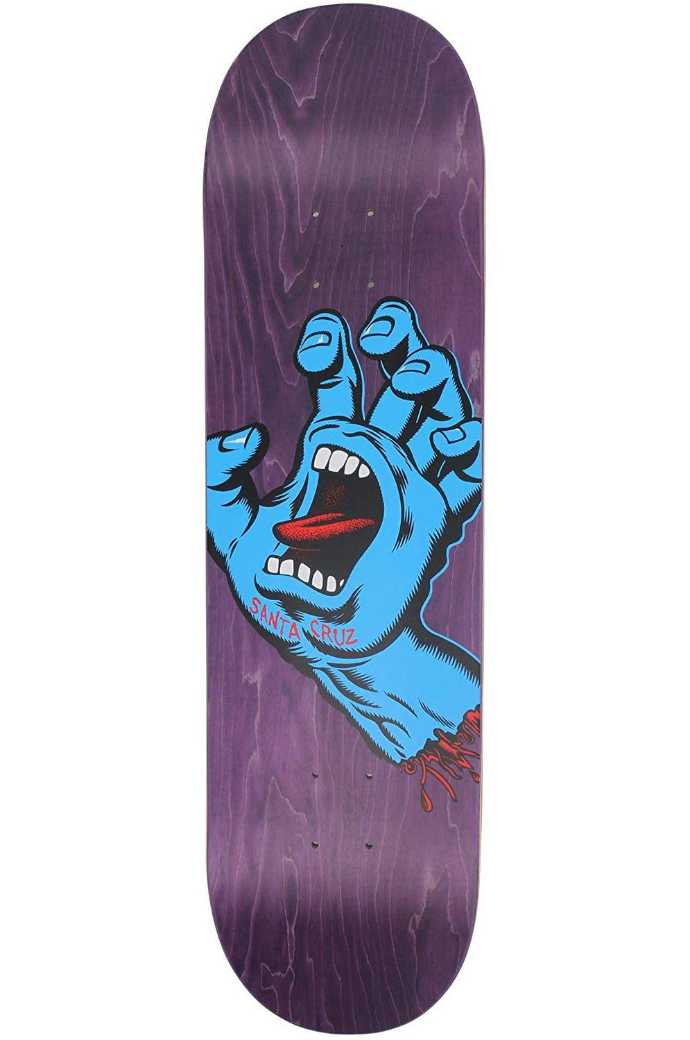 "Santa Cruz Skate Board SCREAMING HAND 8.375"" X 32"" Assorted"