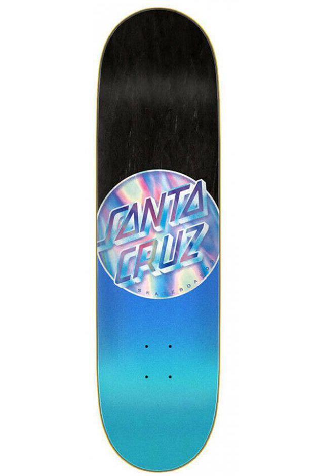 "Santa Cruz Skate Board 8.5"" X 32.2"" IRIDESCENT DOT HARD ROCK MAPLE Blue"