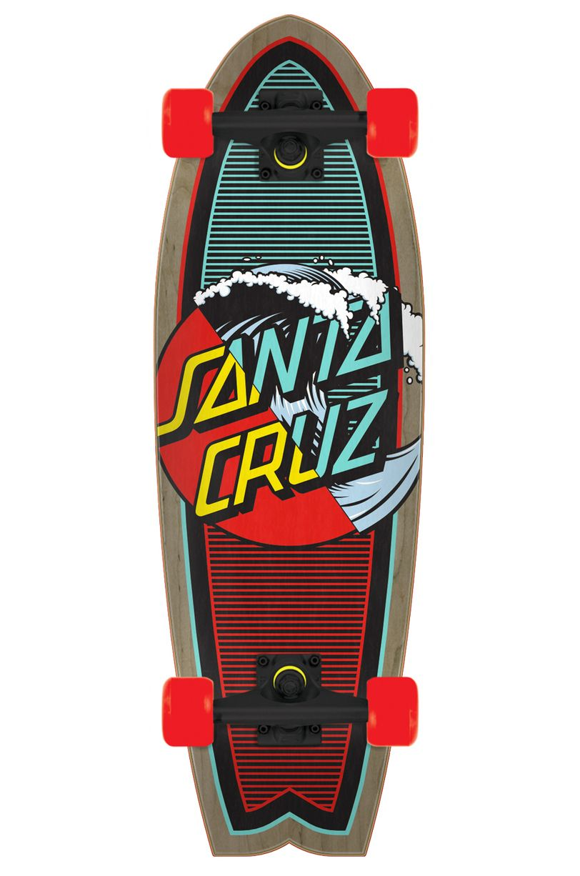 "Santa Cruz Cruiser Skate 8.8"" X 27.7"" CLASSIC WAVE SPLICE Assorted"