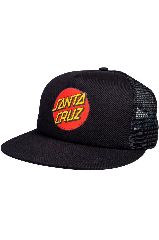 Santa Cruz Cap   CLASSIC DOT MESHBACK Black/Black