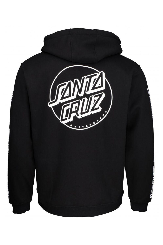 Sweat Capuz Santa Cruz OPUS DOT SLEEVES Black