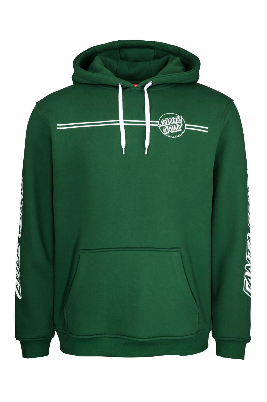 Santa Cruz Sweat Hood OPUS DOT STRIPE Evergreen