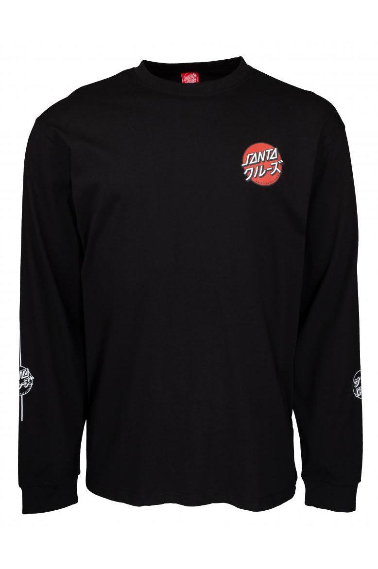 Santa Cruz L-Sleeve MIXED UP DOT L/S T-SHIRT Black