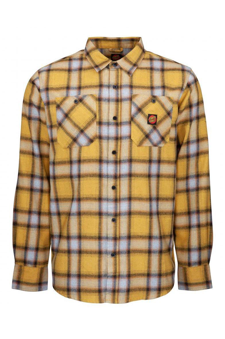 Santa Cruz Shirt APEX SHIRT Mustard Check