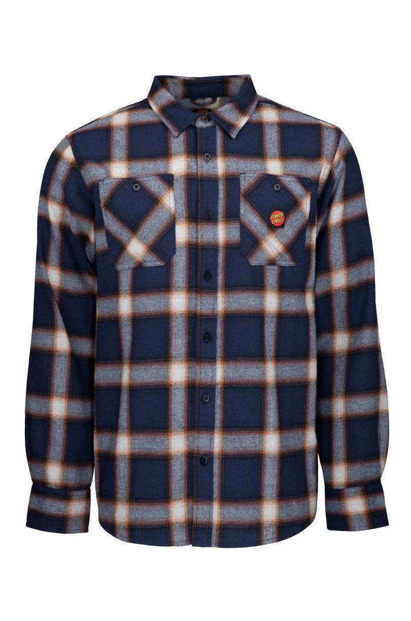 Santa Cruz Shirt APEX SHIRT Dark Navy Check