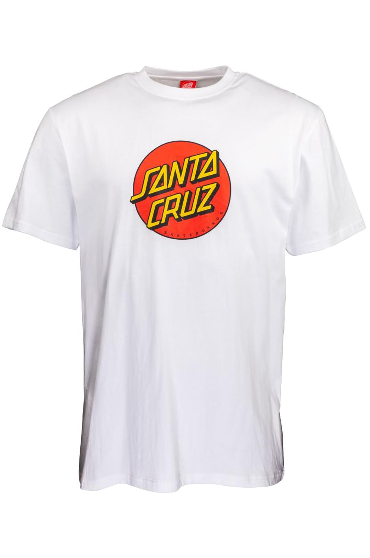 Santa Cruz T-Shirt NEW CLASSIC DOT White