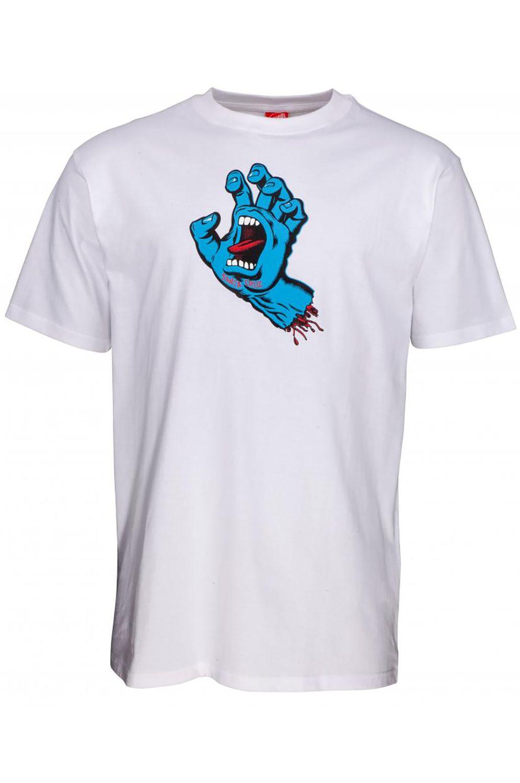 Santa Cruz T-Shirt NEW SCREAMING HAND White