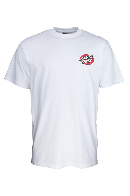 Santa Cruz T-Shirt VINTAGE BONE HAND White
