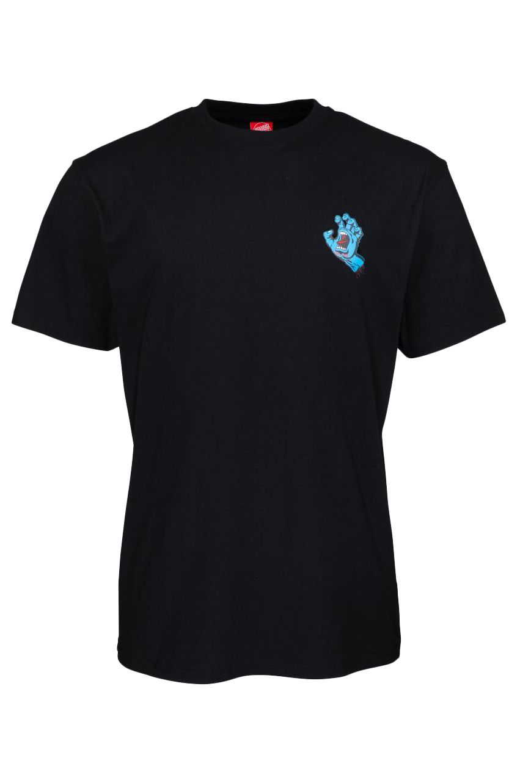 Santa Cruz T-Shirt SCREAMING HAND CHEST Black
