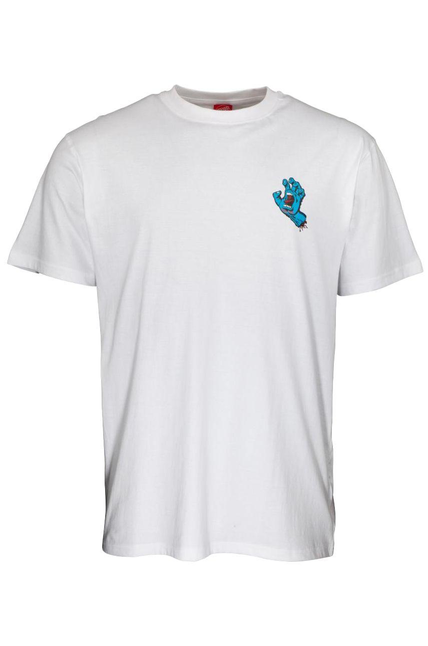 Santa Cruz T-Shirt SCREAMING HAND CHEST White