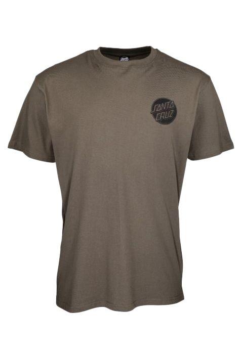 Santa Cruz T-Shirt CONTRA DOT MONO Washed Black