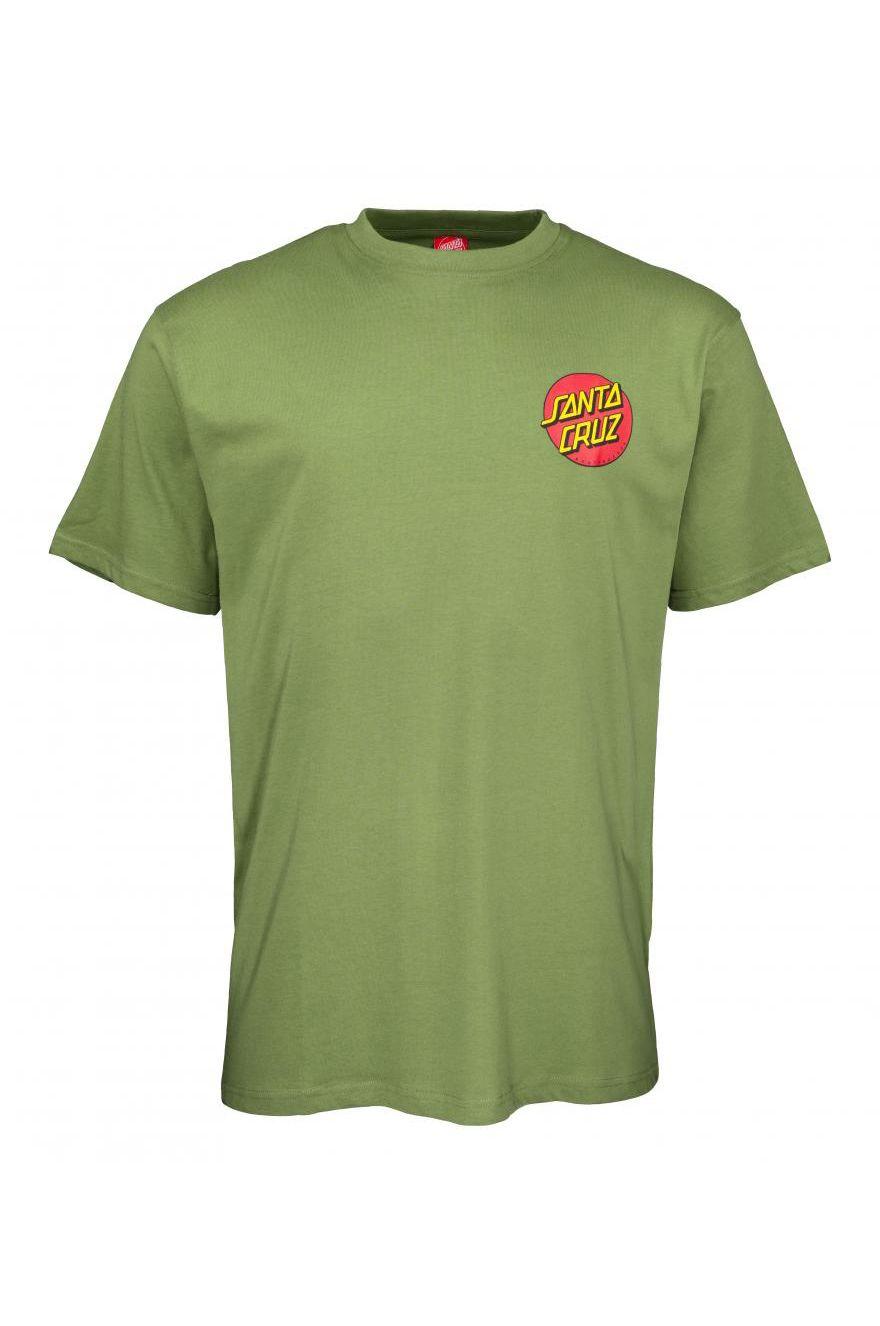 Santa Cruz T-Shirt CLASSIC DOT CHEST Dill Green