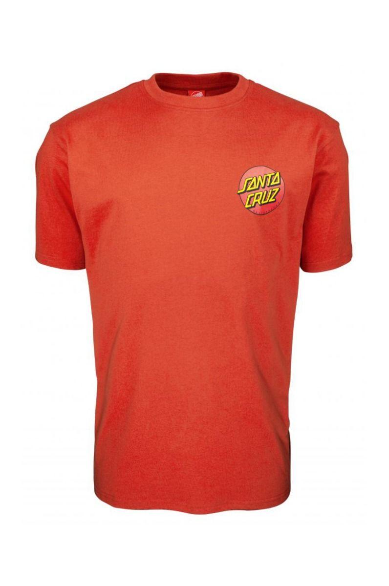 Santa Cruz T-Shirt CLASSIC DOT CHEST Ketchup