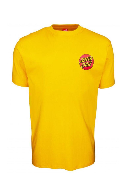 Santa Cruz T-Shirt CLASSIC DOT CHEST Mustard