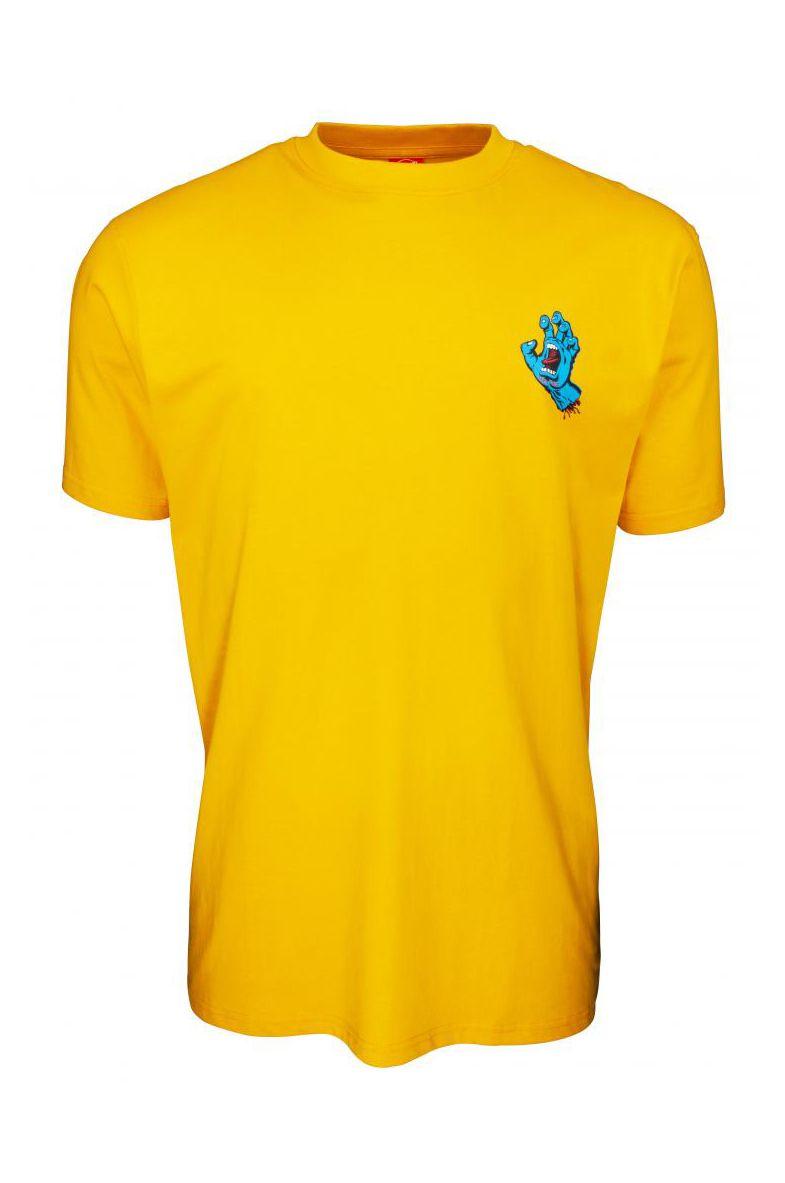 Santa Cruz T-Shirt SCREAMING HAND CHEST Mustard