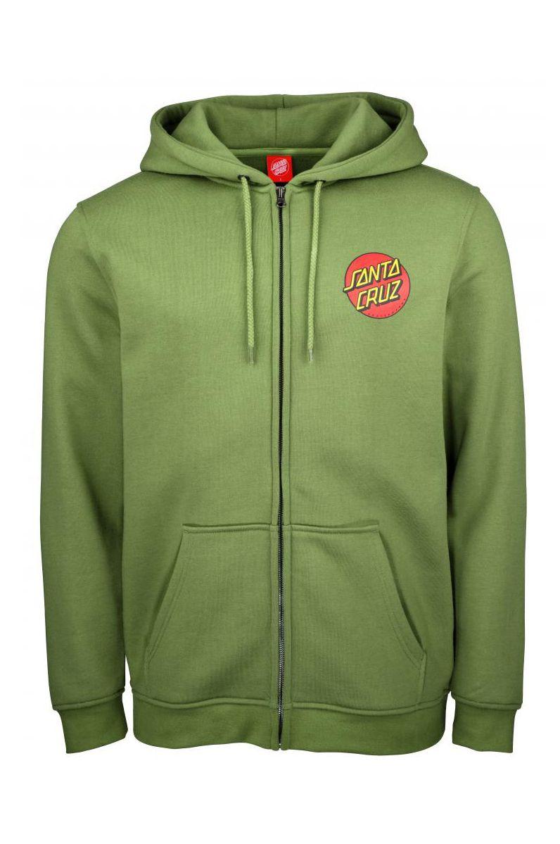 Santa Cruz Sweat Zip Hood CLASSIC DOT ZIP HOOD Dill Green