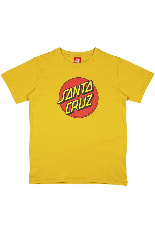 Santa Cruz T-Shirt YOUTH CLASSIC DOT Mustard