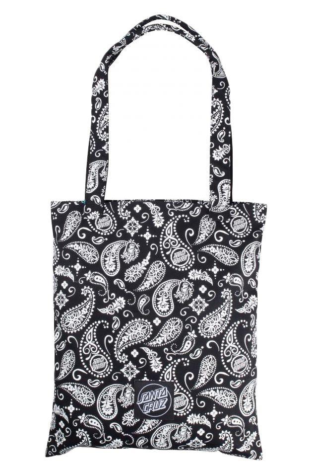 Santa Cruz Bag SCREAMING PAISLEY TOTE BAG Black/White