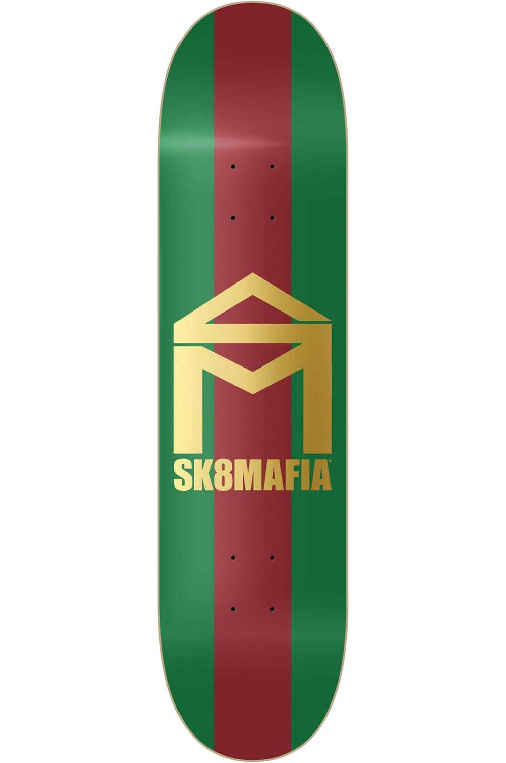 "Tabua Sk8Mafia 8.25"" HOUSE LOGO GG Green/Red"