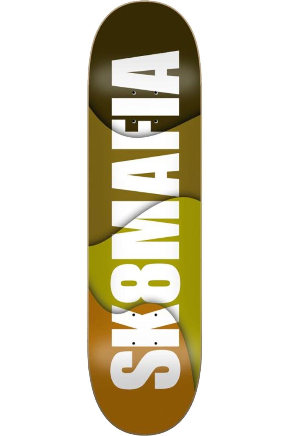 """Sk8Mafia Skate Board OG LOGO OVERLAP 8.25"""" x 32"""" Green"""