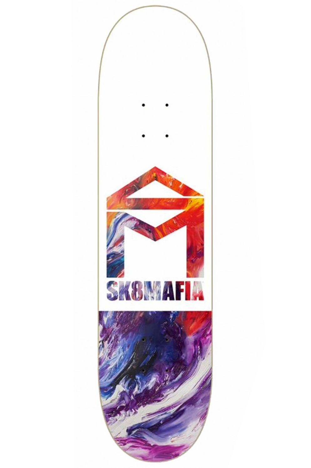 "Sk8Mafia Skate Board HOUSE LOGO OIL LOW 8"" X 32"" Assorted"