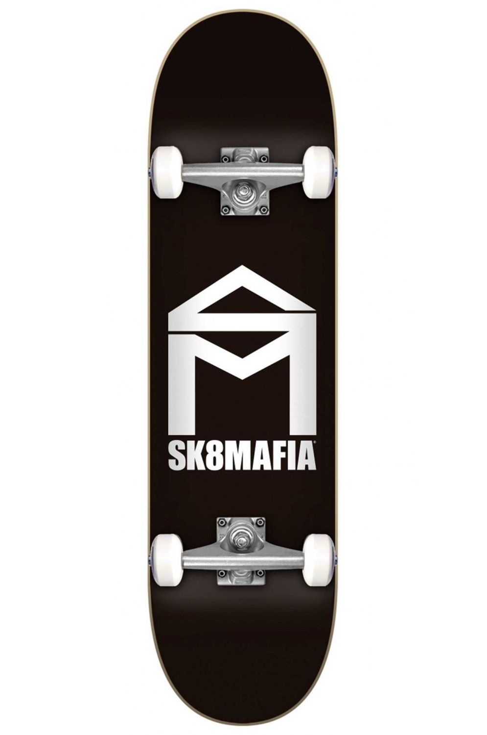 "Street Skate Sk8Mafia 7.75"" X 31.6"" HOUSE LOGO BLACK Black"