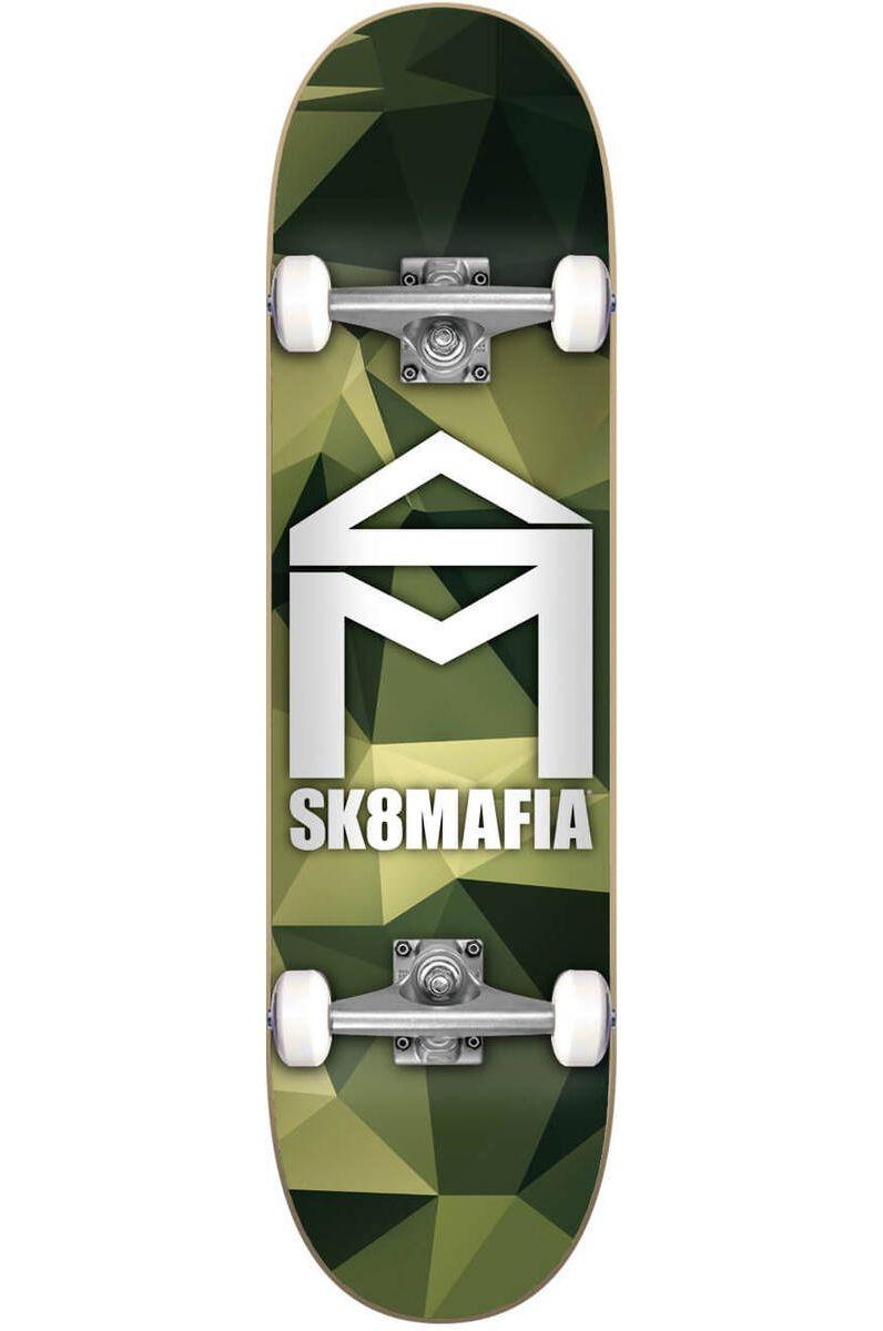 "Street Skate Sk8Mafia 7.87"" X 31.6"" HOUSE LOGO CAMO GREEN Assorted"