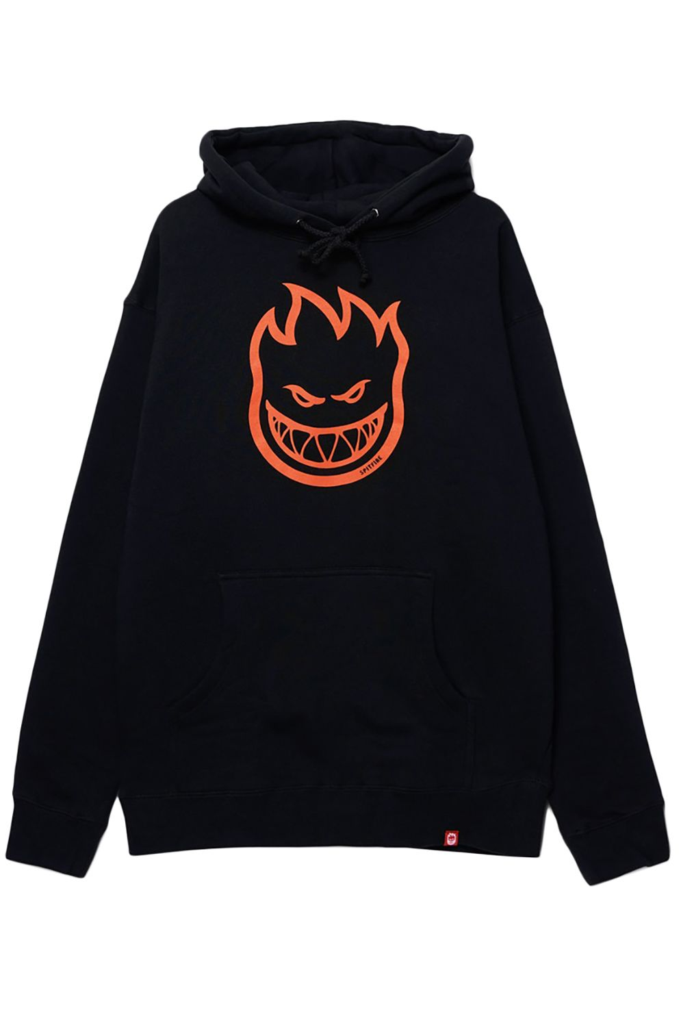 Sweat Capuz Spitfire BIGHEAD Black W/ Orange Print