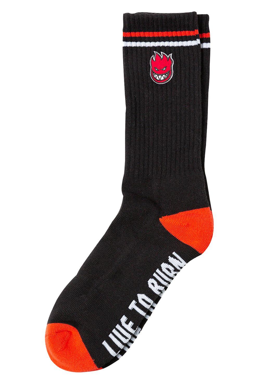 Spitfire Socks BIGHEAD FILL EMB Black/Red/White