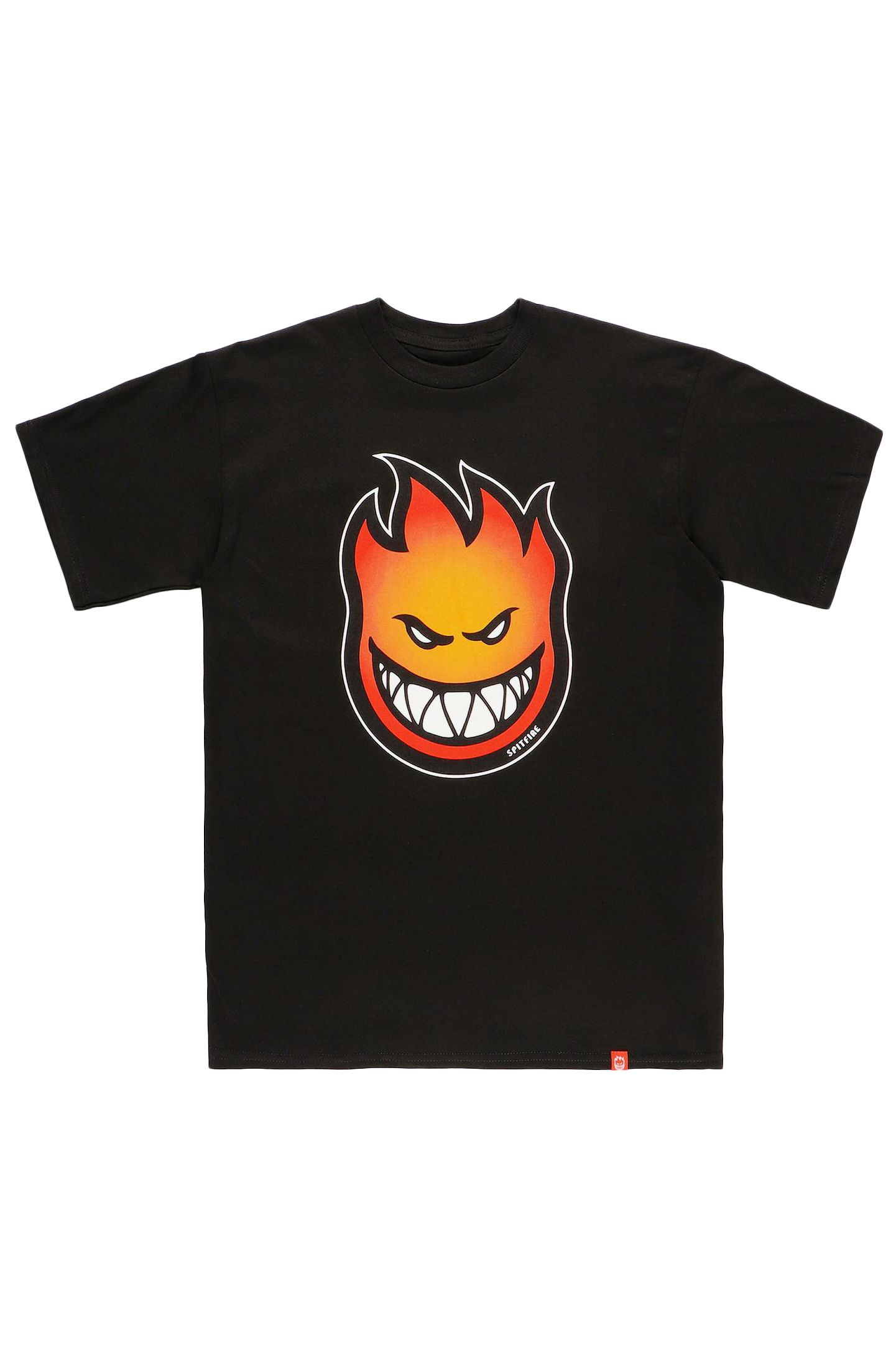 T-Shirt Spitfire BIGHEAD FADE FILL Black W/ Gold To Red Fade Print