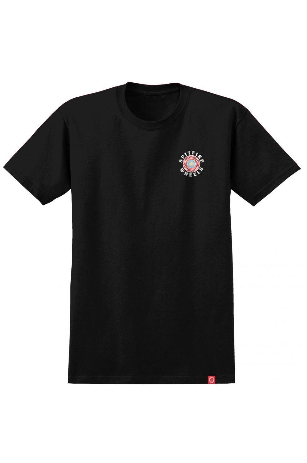 T-Shirt Spitfire OG CLASSIC FILL Black/Multi-Colored