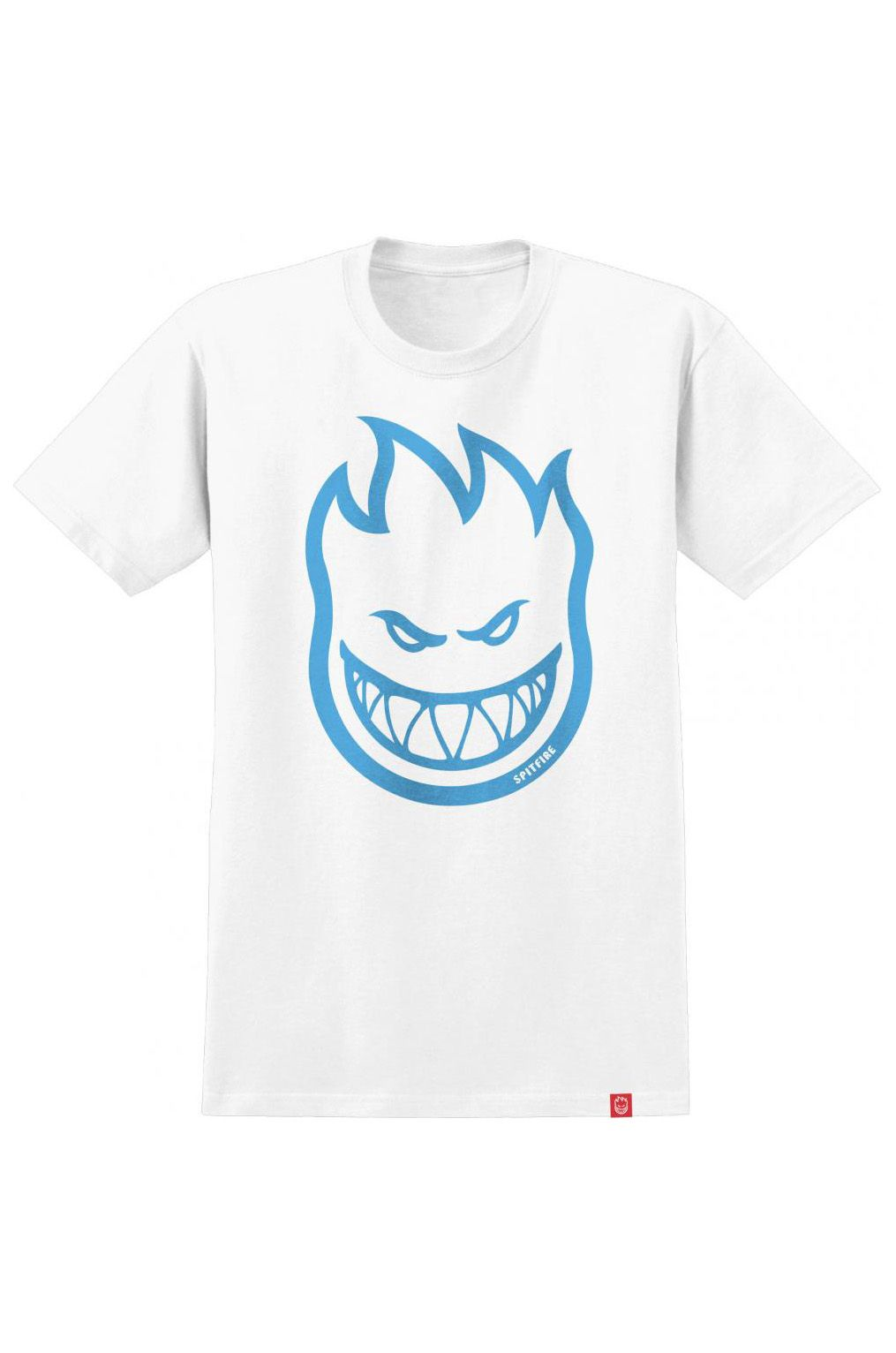 T-Shirt Spitfire BIGHEAD White/Lt Blue