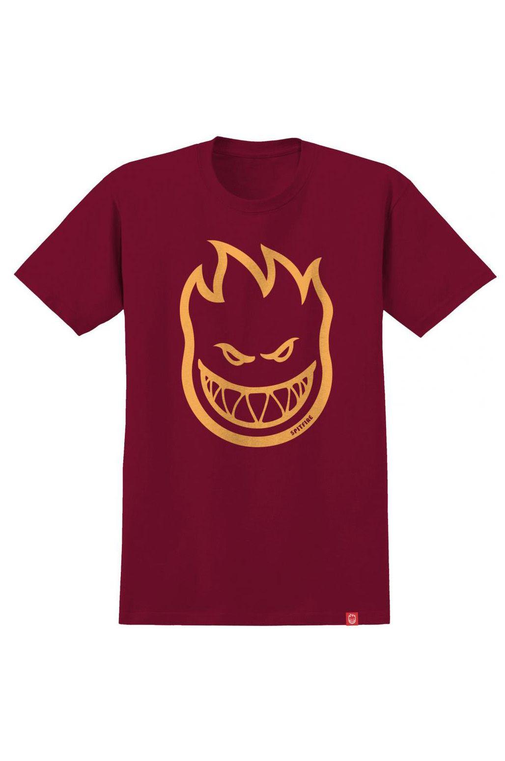T-Shirt Spitfire BIGHEAD Cardinal/Orange
