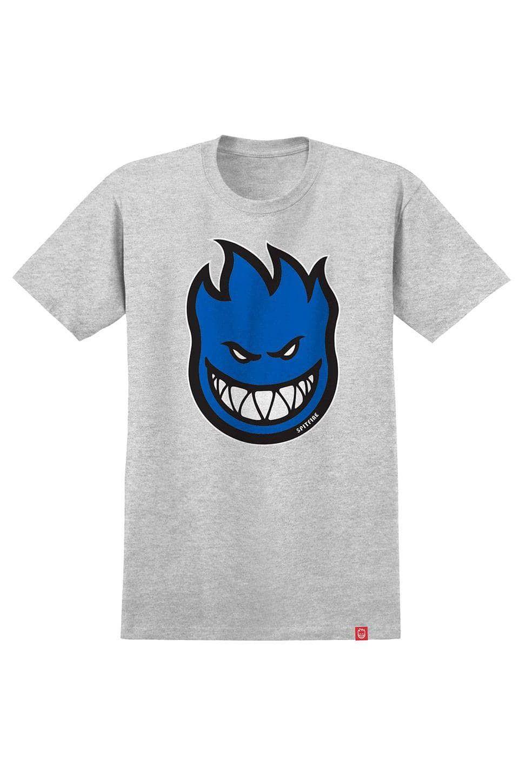 T-Shirt Spitfire BIGHEAD FILL Athletic Heather/Blue