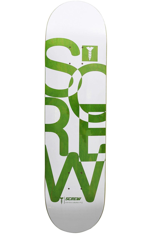 """Tabua Screw COLOR LINE #17 005_8.125"""" Green"""
