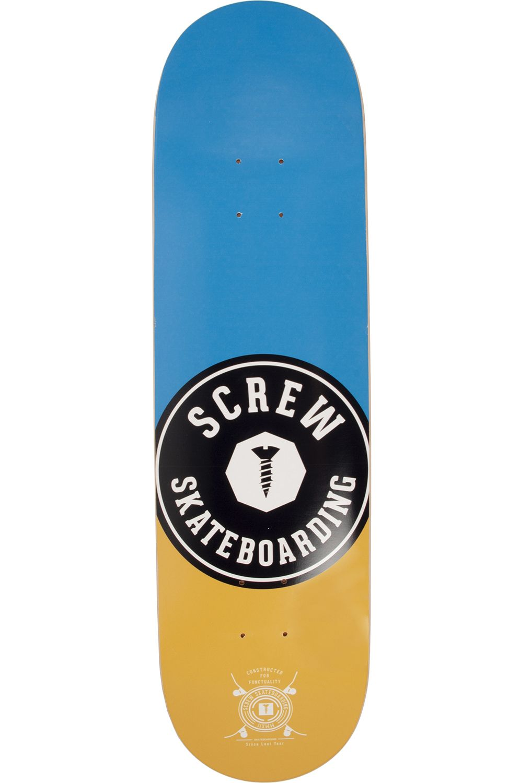 "Screw Skate Board 8.5"" COLOR LINE #19 001 Blue"