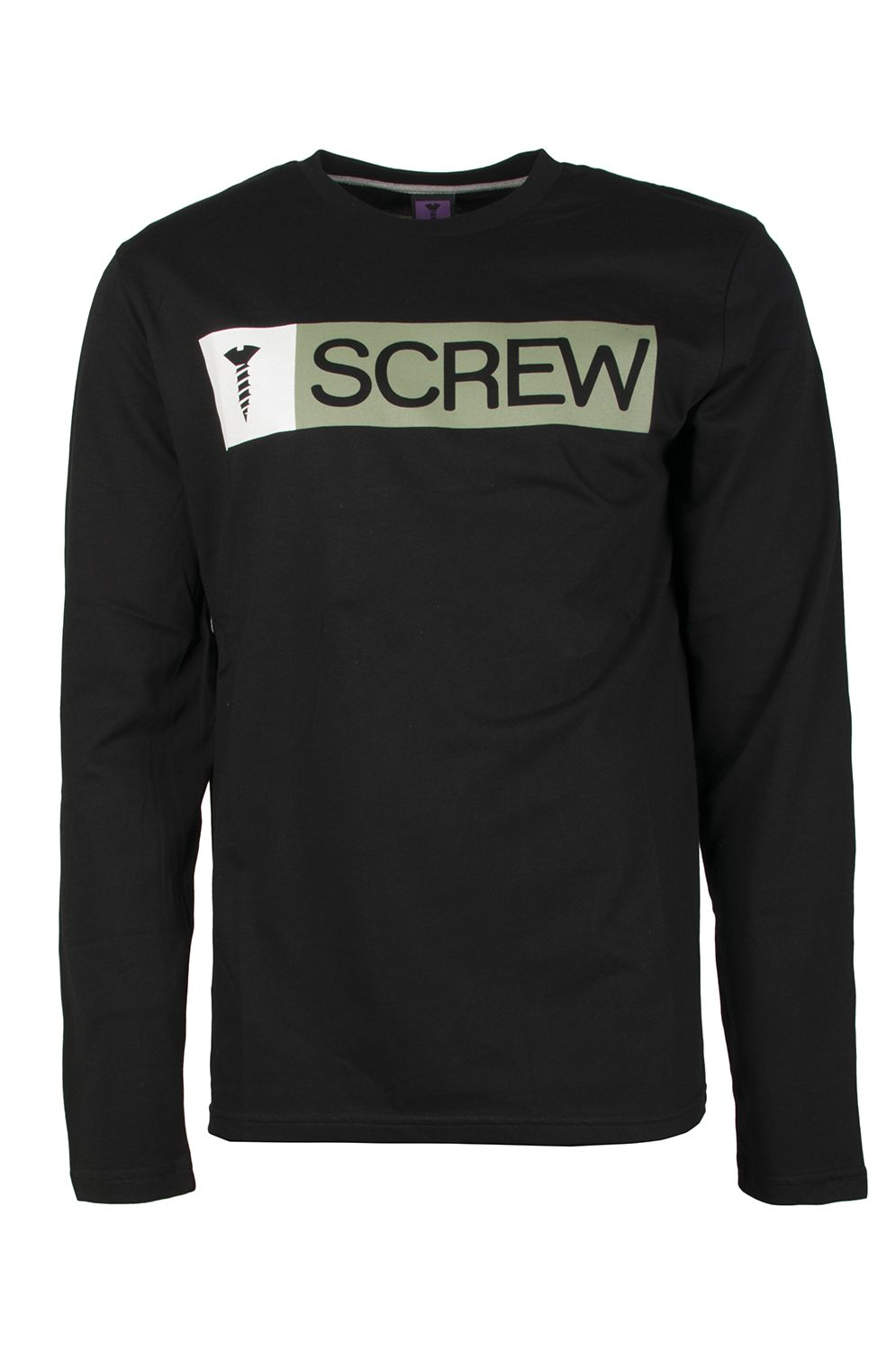 L-Sleeve Screw SUPER LOGO Black