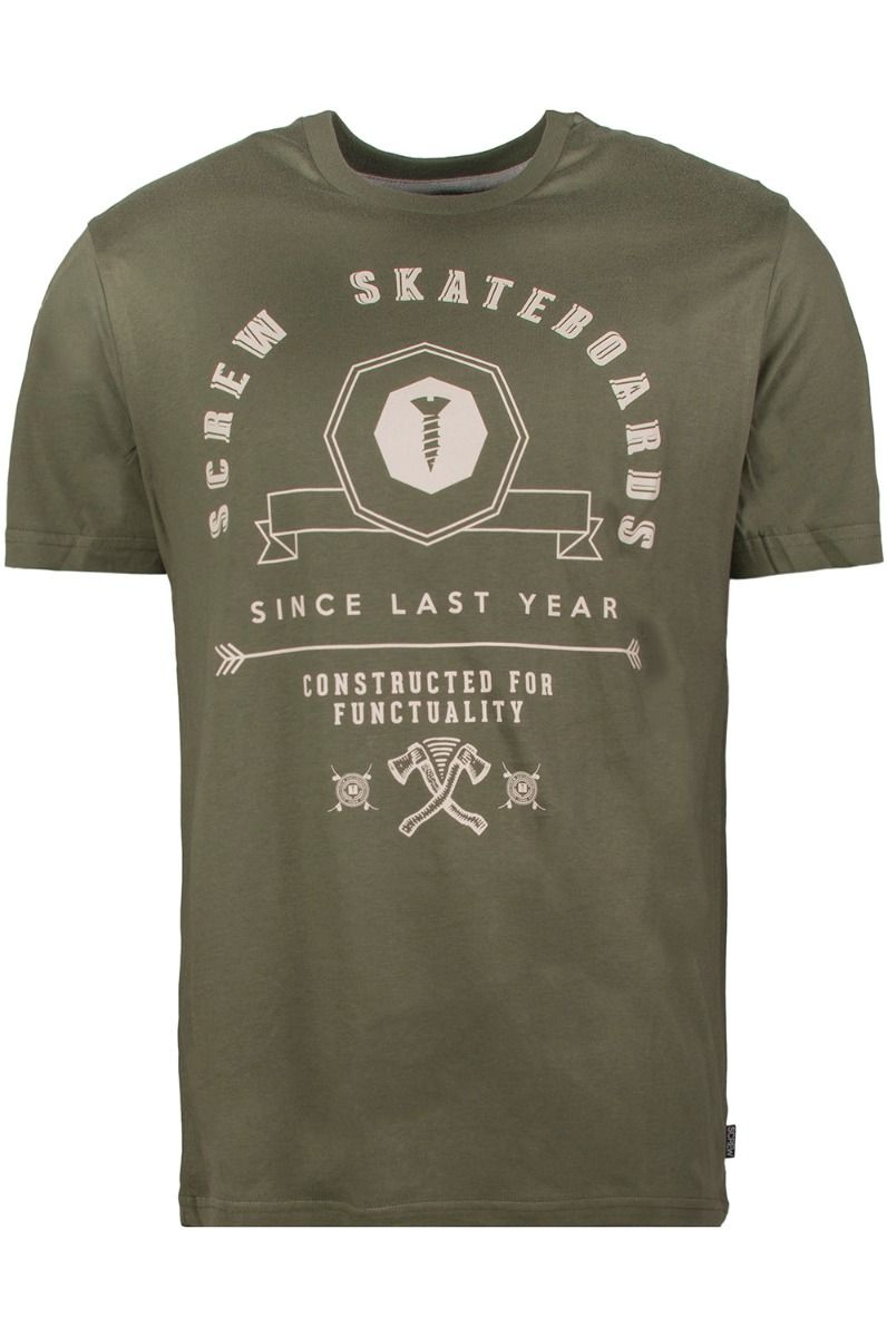 Screw T-Shirt SKATELAB Green Iguana