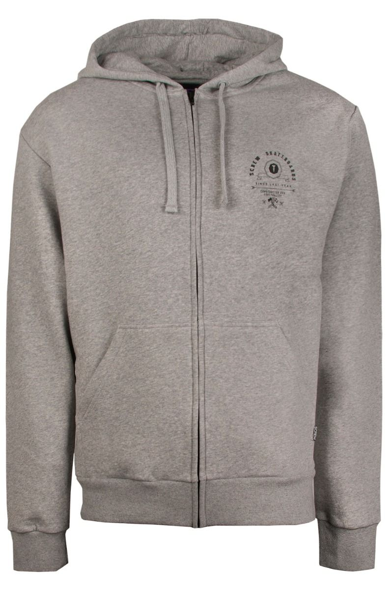 Sweat Fecho Screw SKATELAB Grey Heather