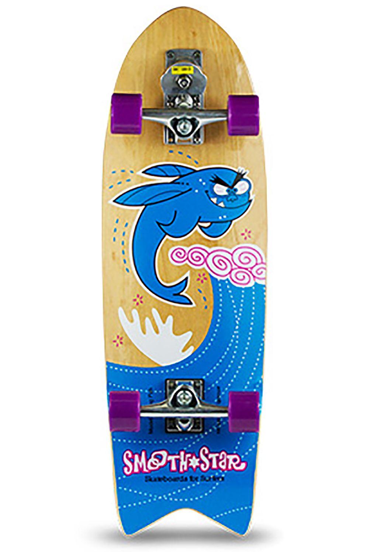 """Smoothstar Surf Skate 32"""" FLYING FISH Blue/Pink"""