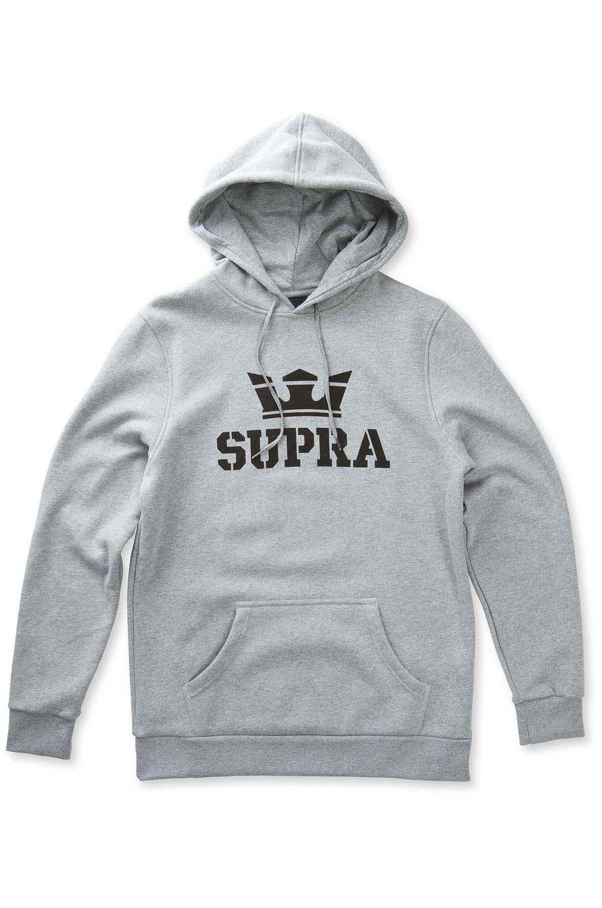 Sweat Capuz Supra ABOVE Grey Heather/Black/Black