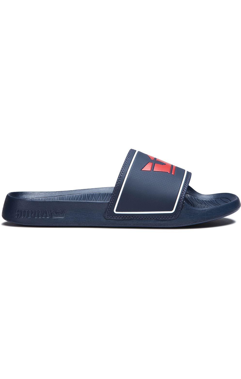 Supra Sandals LOCKUP Navy/Red