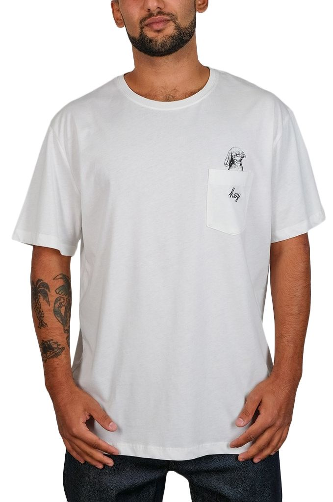 T-Shirt The Dudes HEY Off-White