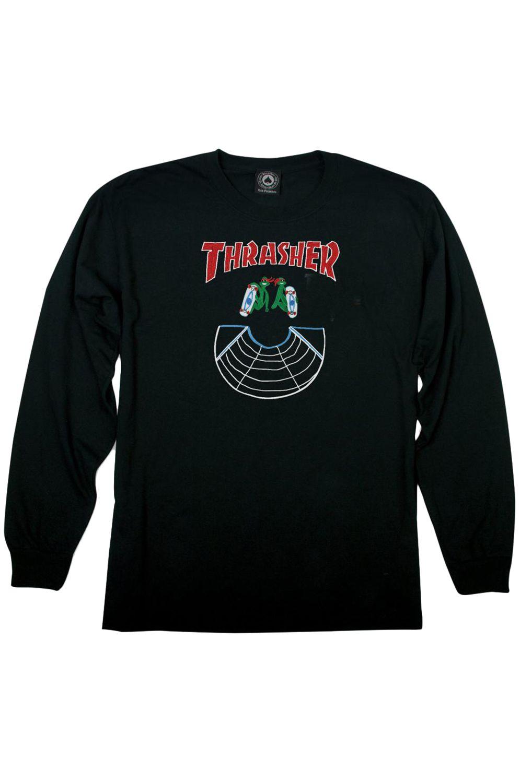L-Sleeve Thrasher DOUBLES Black