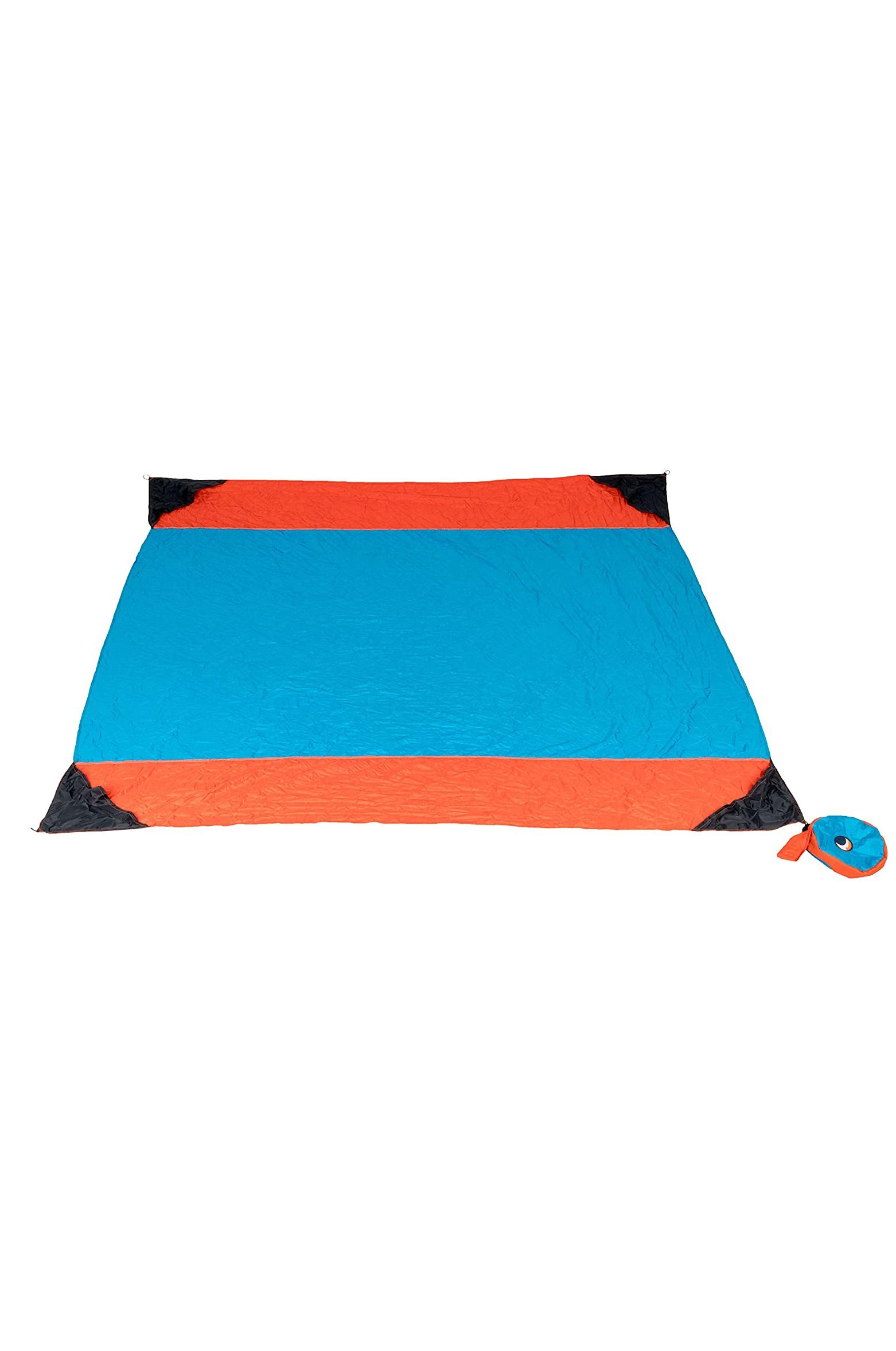 Ticket To The Moon Beach Towel BEACH BLANKET Aqua/Orange