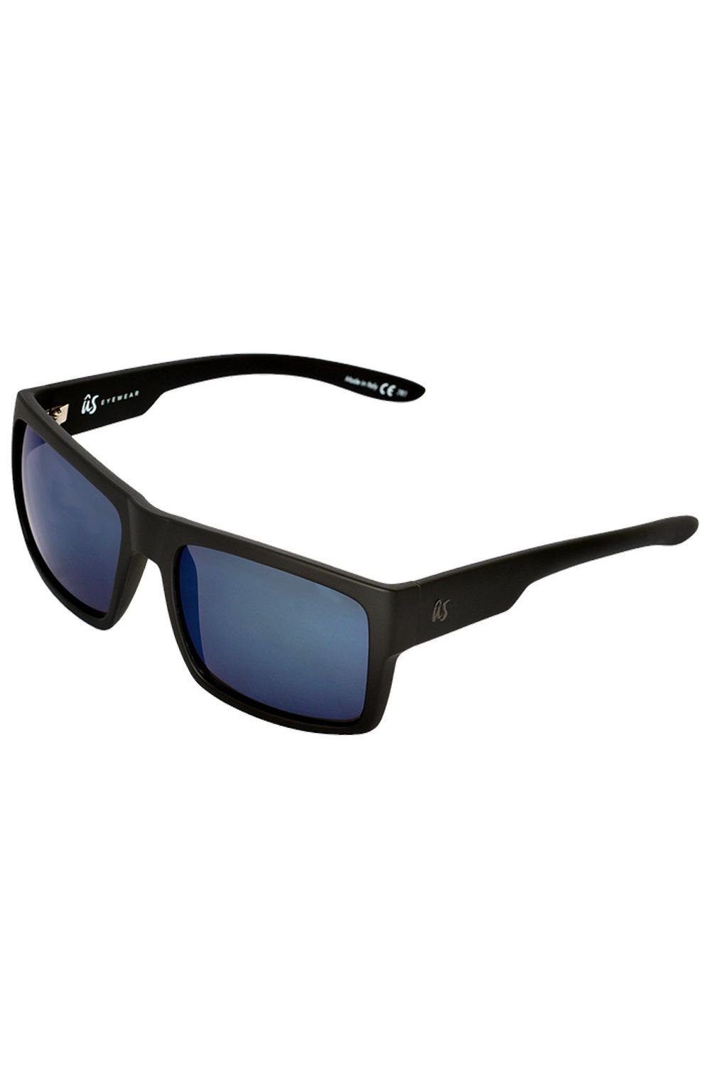 Oculos US HELIOS Matte Black/Grey Blue Chrome