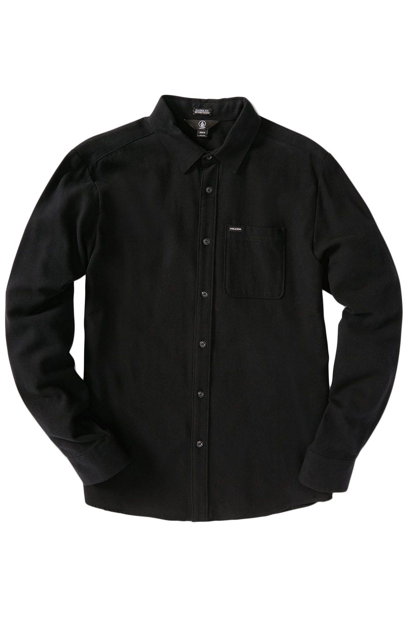 Volcom Shirt CADEN SOLID L/S Black