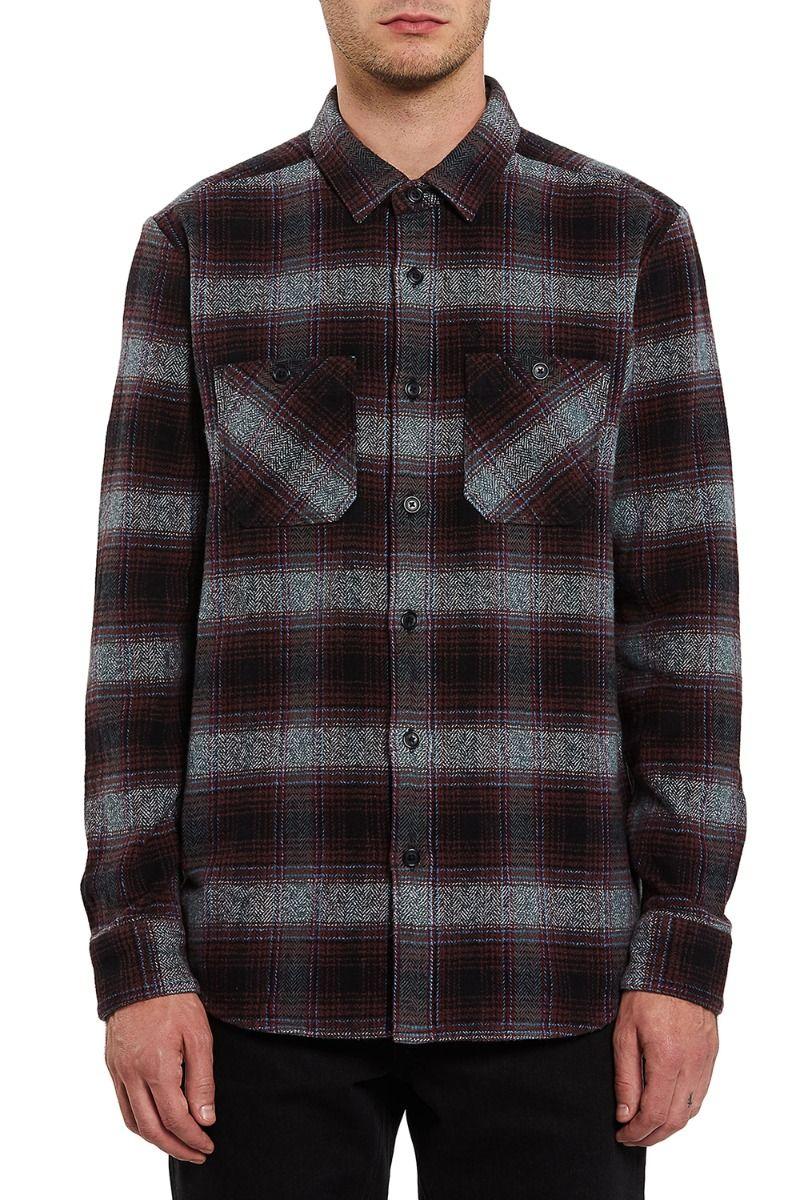 Camisa Volcom QUINTIN FLANNEL L/S Black
