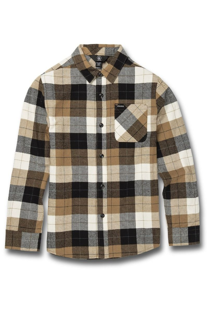 Camisa Volcom CADEN PLAID L/S Primer White